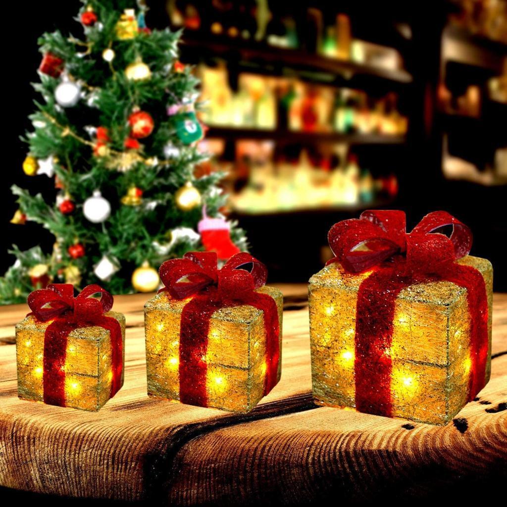 big Christmas boxes